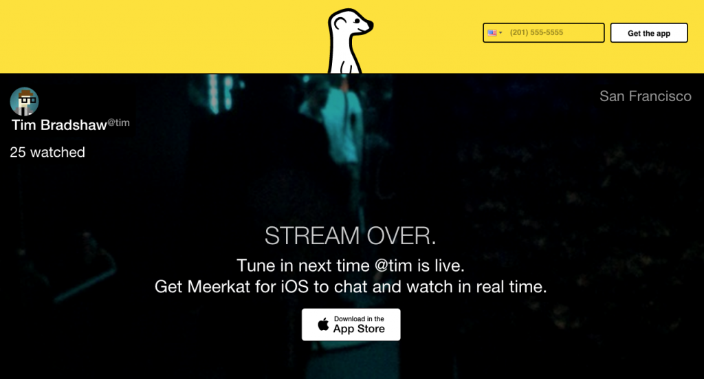Screenshot Meerkat