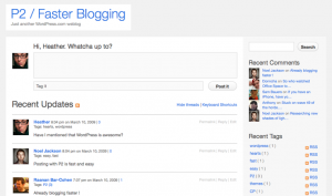 WordPress P2 Screenshot