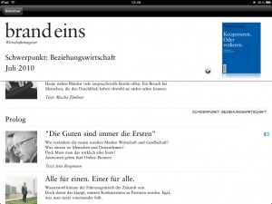 brandeins Screenshot iPad